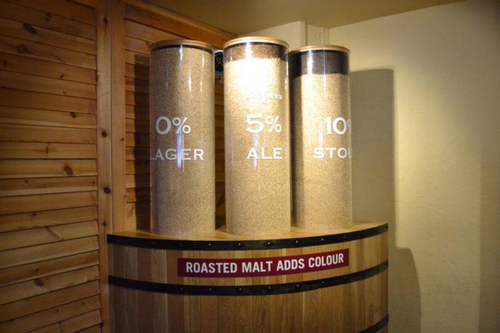 Malto utilizzato pe la produzione delle 3 birre