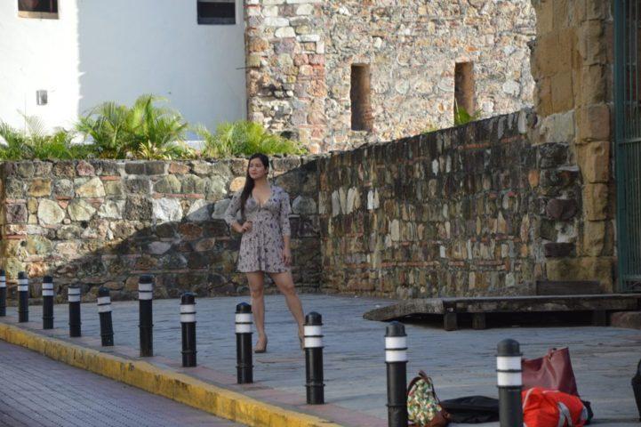 Una modella a Panama City
