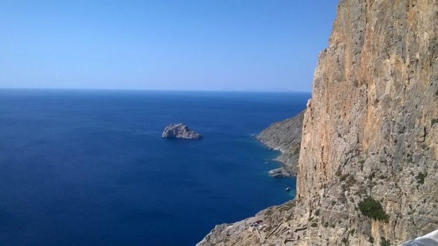 Le piccole Cicladi - Vista dal monastero di Armogos