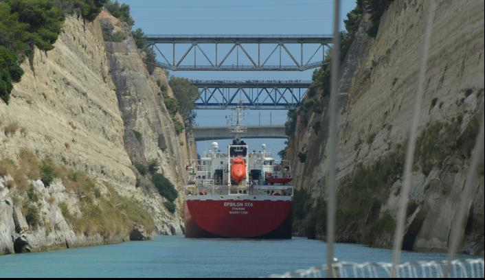 Attraversare il canale di Corinto