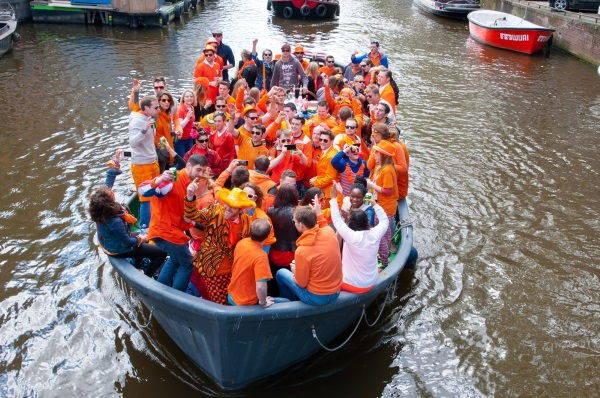 Barca il giorno del Re - Amsterdam