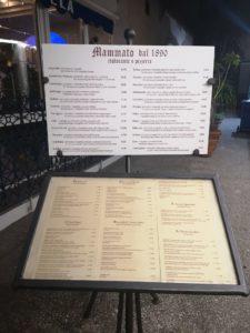 Mammato dal 1890 - menù